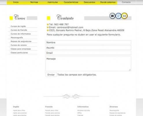 Diseño Web para cei3 - contacto