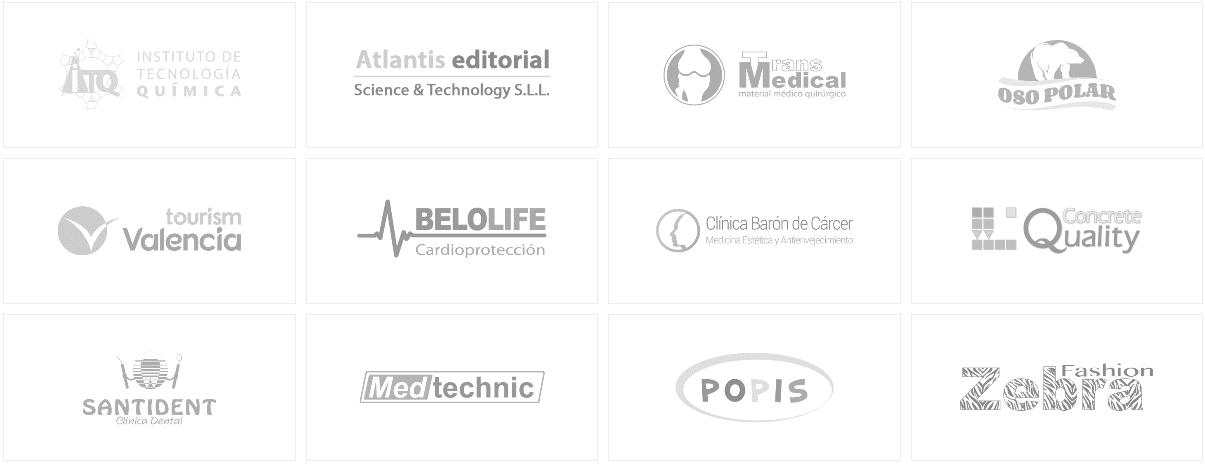 Clientes que contratarón mis servicios de diseño Web y gráfico freelance en Valencia