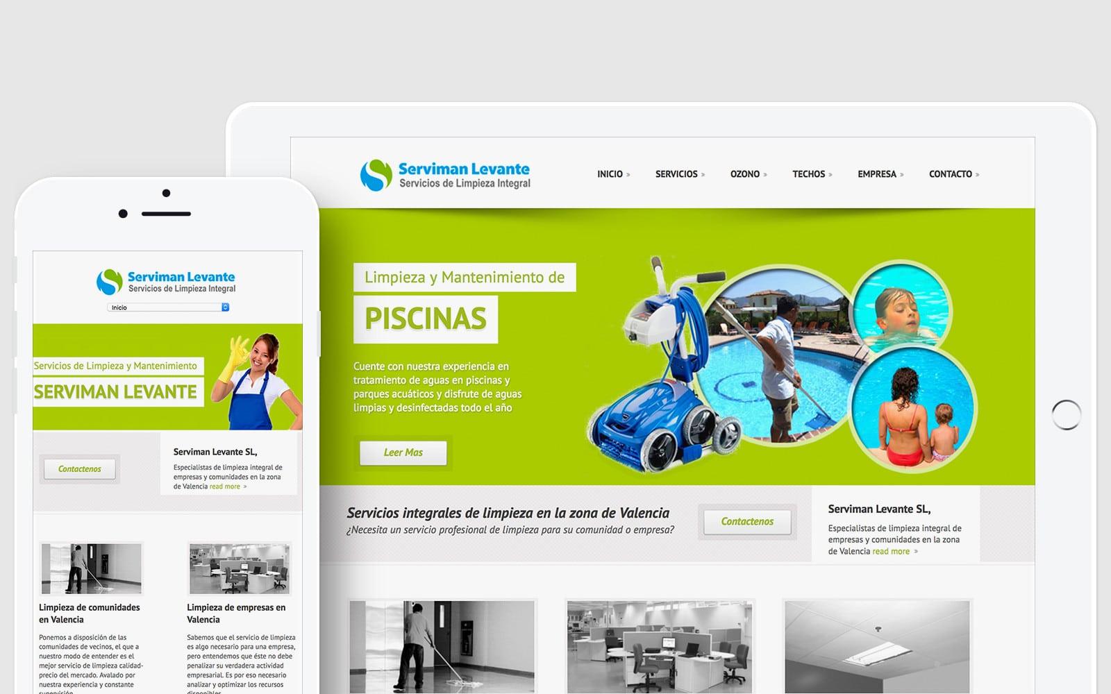 Diseño de Web corporativa para Serviman Levante SL