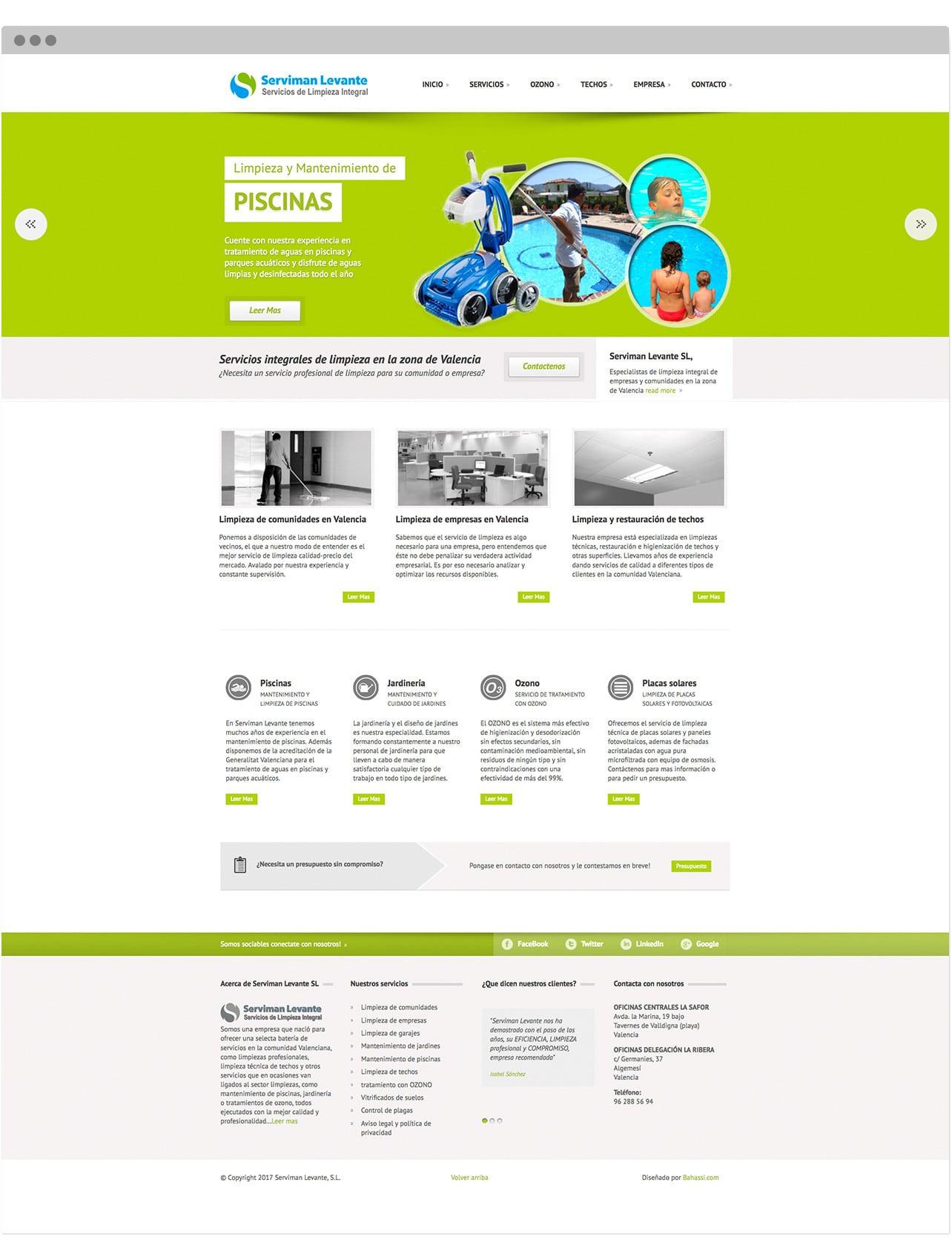 Rediseño Web corporativo para serviman Levante SL