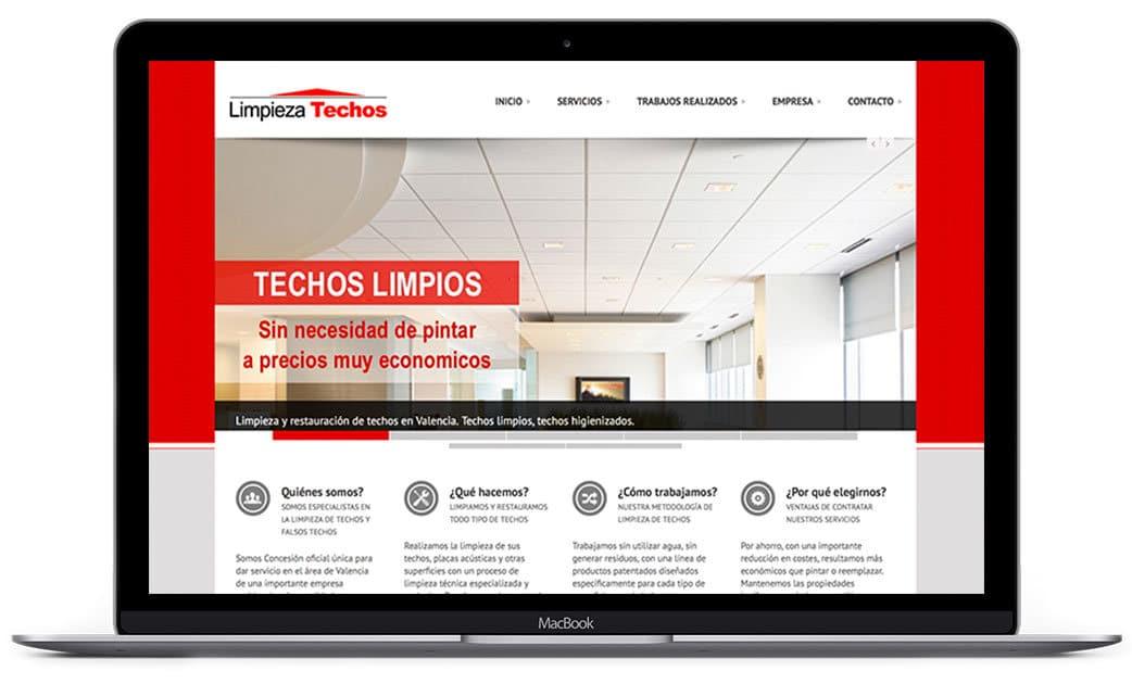 Web corporativa Limpieza Techos