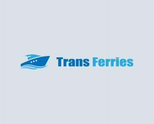 Diseño de logotipo para empresa de transporte marítimo Trans Ferries