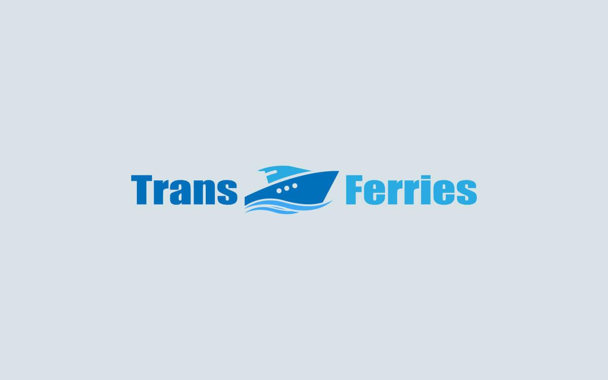 Diseño de logotipo para empresa de transporte marítimo Trans Ferries versión cuatro