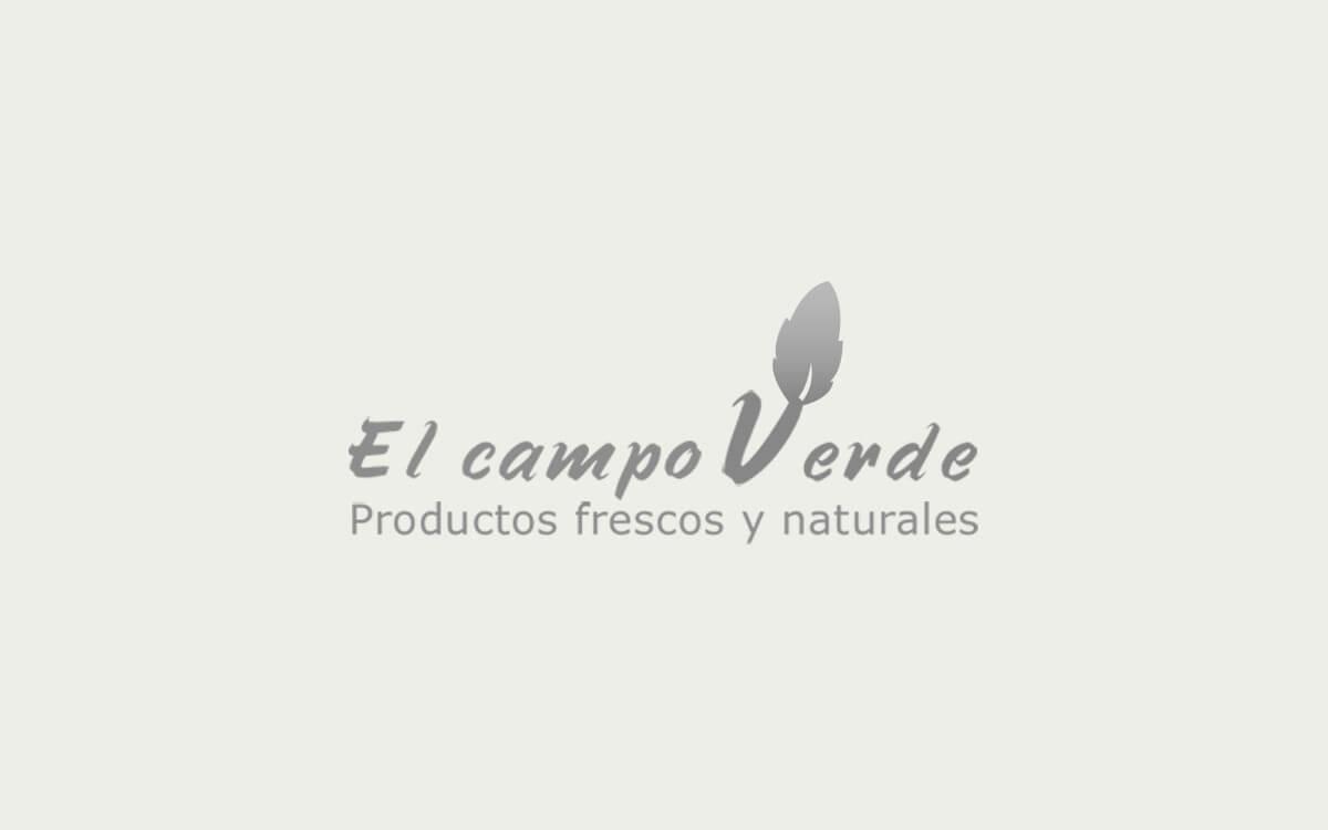 Diseño de logotipo para El Campo Verde, una empresa de agricultora especializada en cultivar productos ecológics.