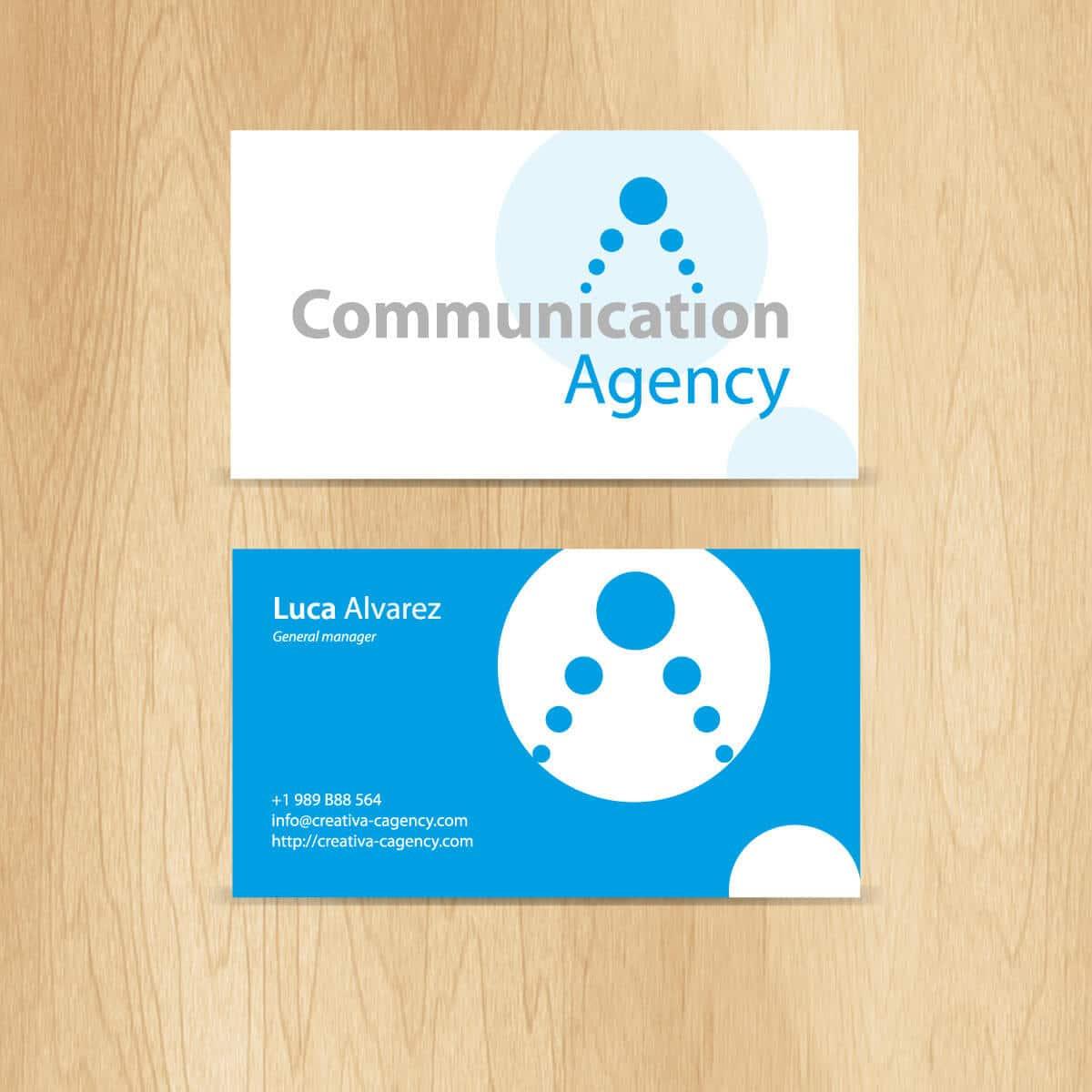 Diseño de tarjetas de visita para una agencia de comunicacion