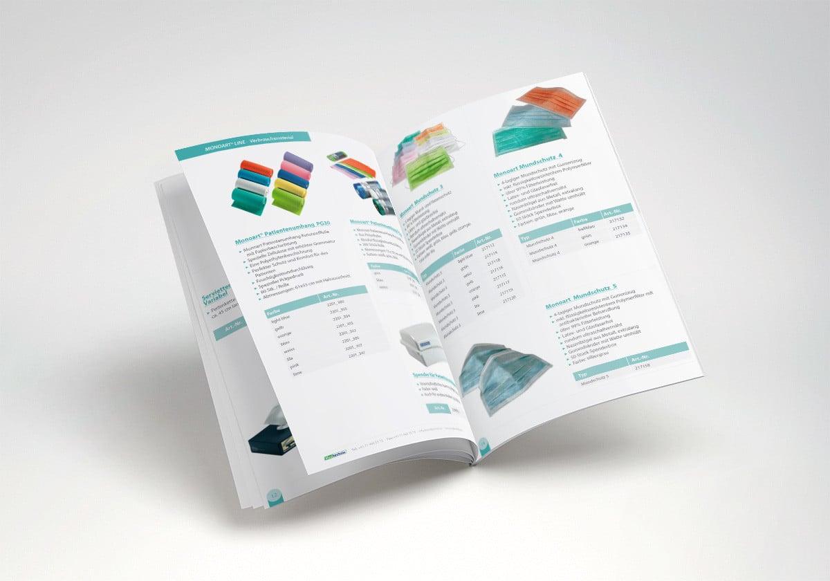 Catálogo publicitario de productos médicos para MedTechnic