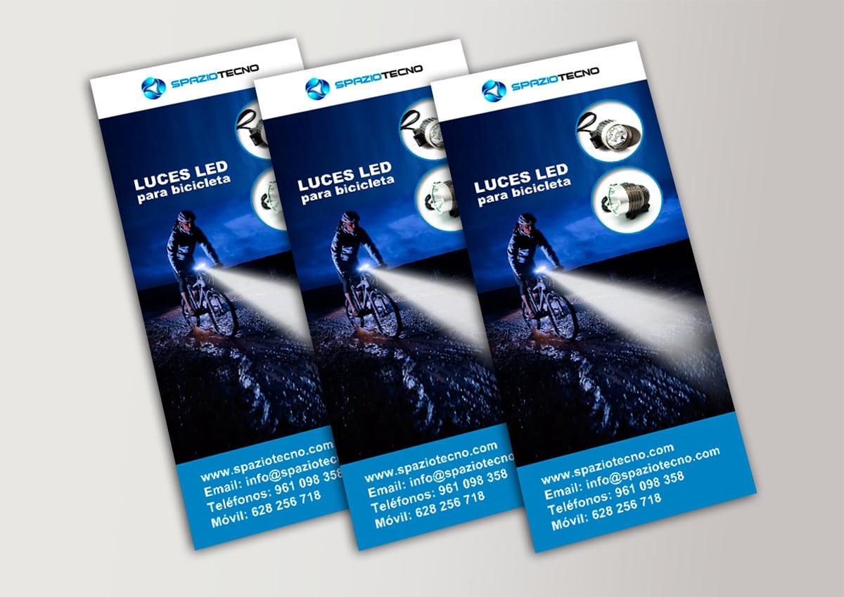 Diseño de flyers de productos electrónicos led