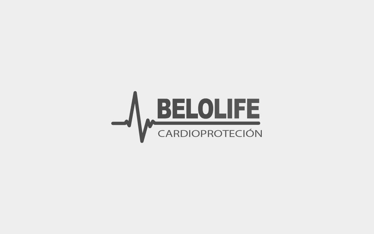 Diseño logotipo para Belolife, empresa que vende y instala desfibriladores