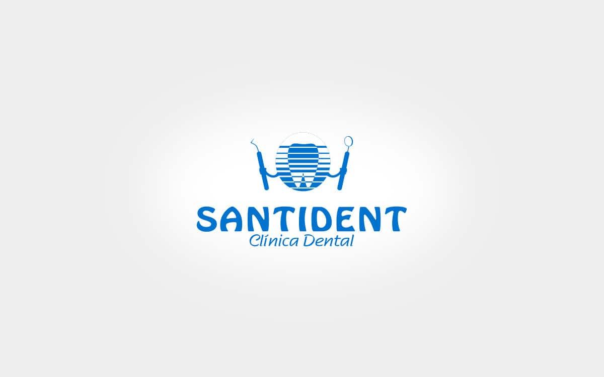 Rediseño de logotipo para la clínica dental Santident en Valencia