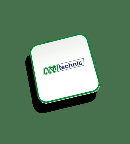 Diseño de logotipo para Medtechnic, empresa de mantenimiento y validación de equipos médico de sanitización