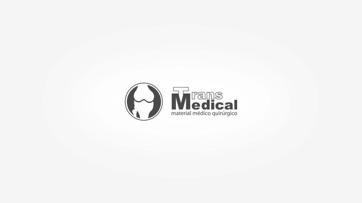 Diseño de logotipo para Transmedical, comercio al por mayor de aparatos e instrumentos ortopédico, ópticos y fotográficos en Valencia