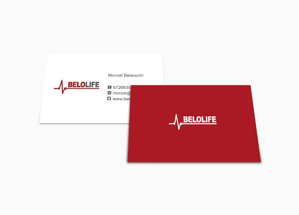 Tarjetas de presentación para Belolife en Valencia