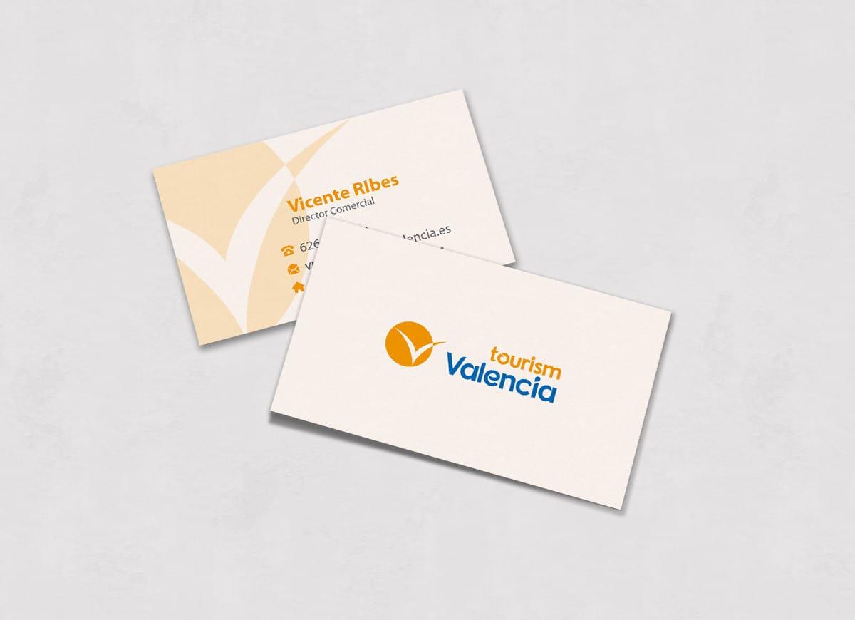 Diseño de tarjetas de visita para agencia de turismo en Valencia
