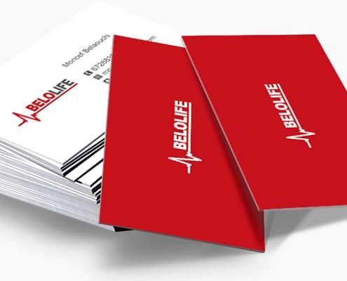 Diseño de tarjetas de visita para Belolife