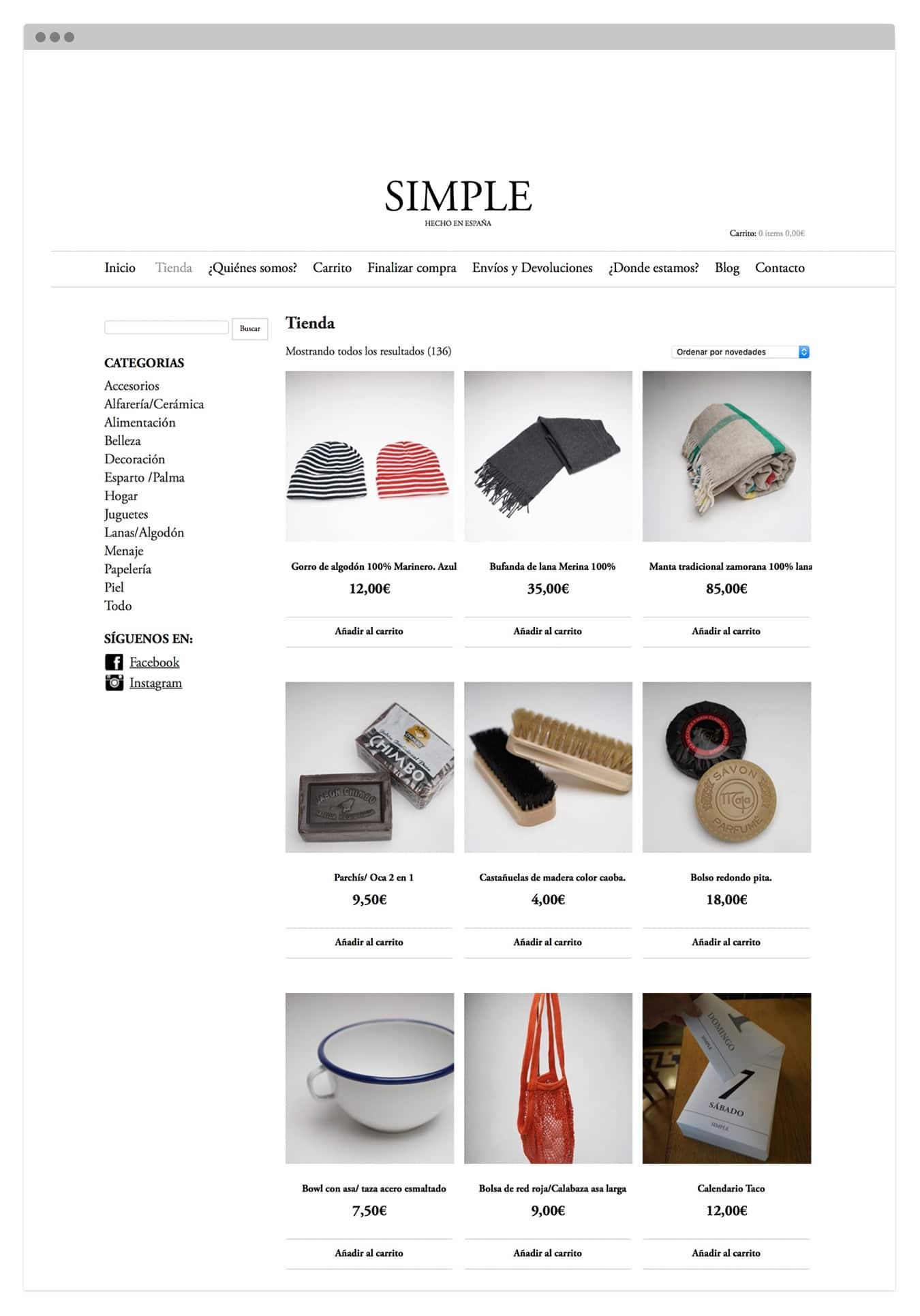 Diseño Web responsive para tienda de productos artesanales en Valencia