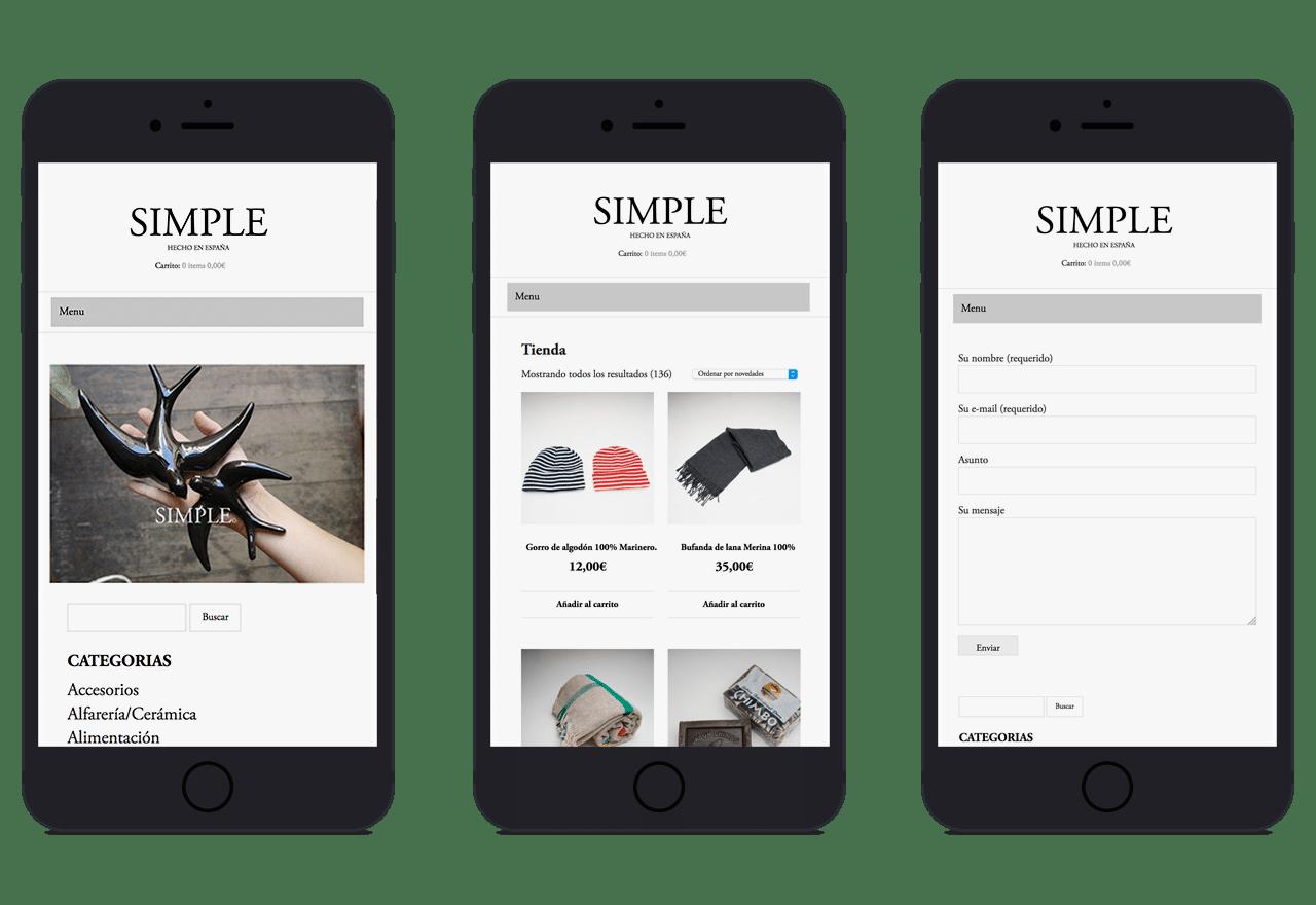 Diseño Web responsive para tienda de artesanía en Valencia