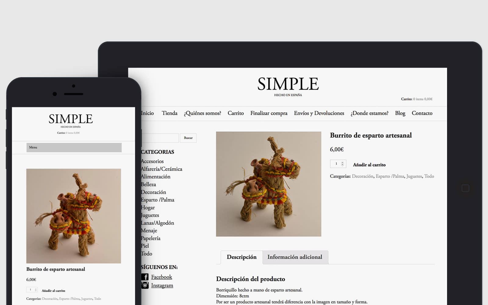 Diseño Web adaptable para tienda de productos artesanales en Valencia