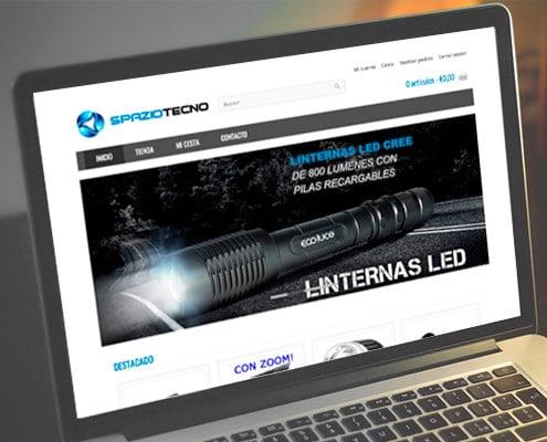 Diseño de tienda online de linternas led