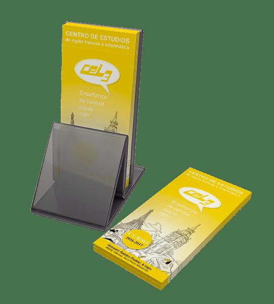 Diseño de un tríptico para la imprenta. CEI3