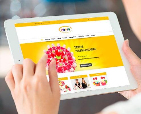 Diseño Web Wordpress para tienda de golosinas POPIS en Valencia