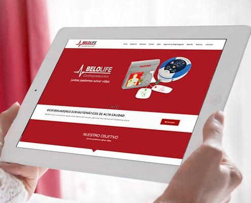 Diseño de página Web corporativa para empresa que vende desibriladores en Valencia