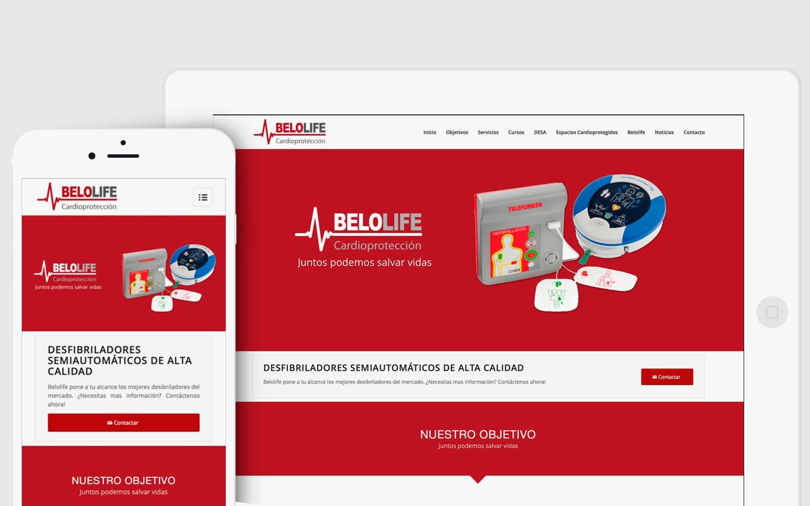 Diseño de página Web adaptable para empresa que vende desibriladores en Valencia