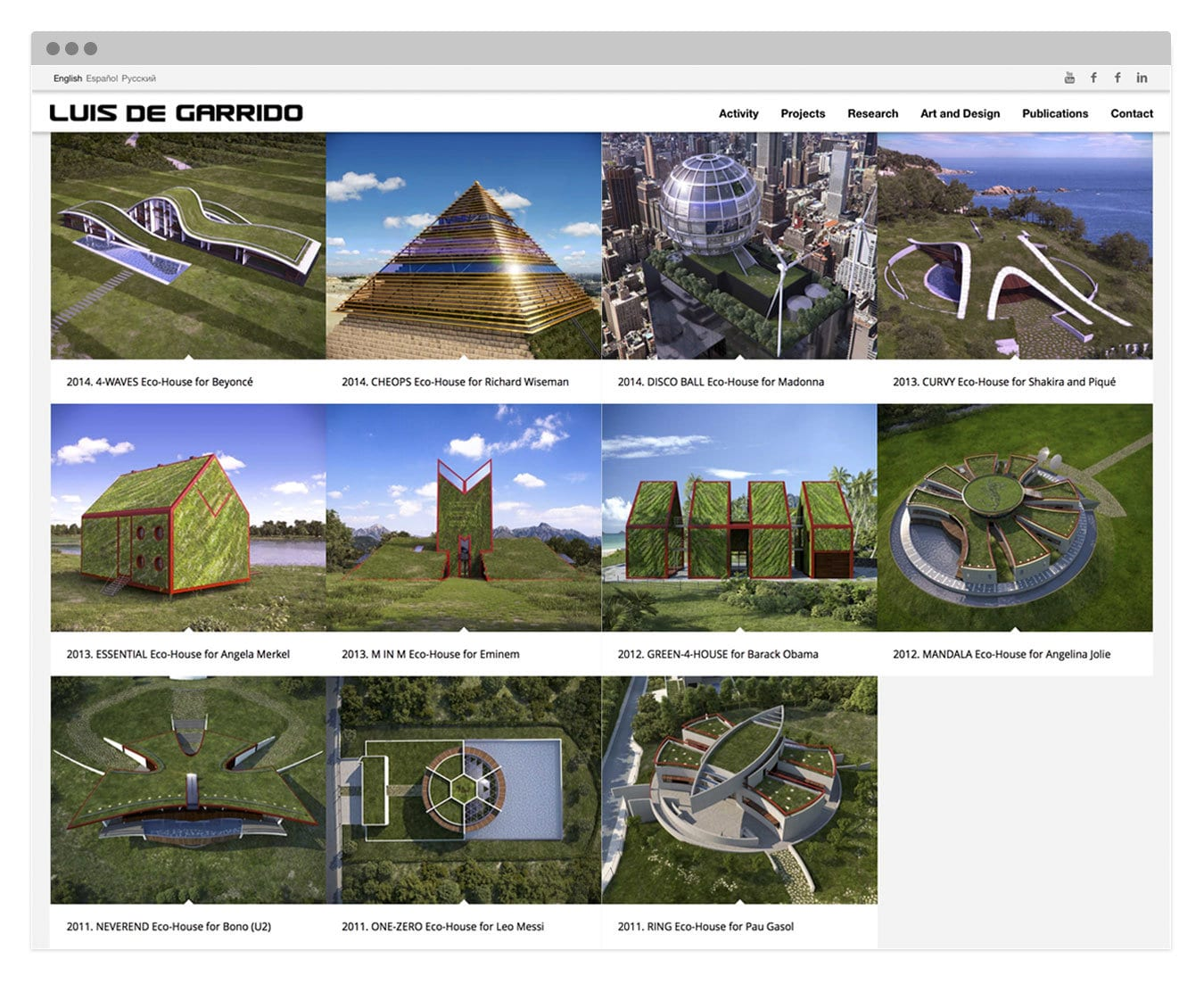 Desarrollo de página Web presencial para el arquiteco Luis de Garrido