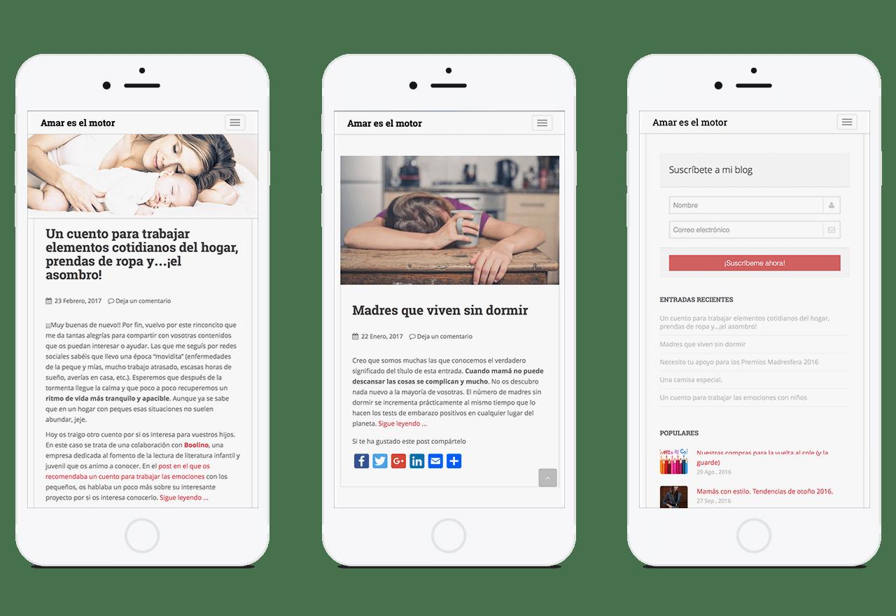 Diseño responsive blog personal