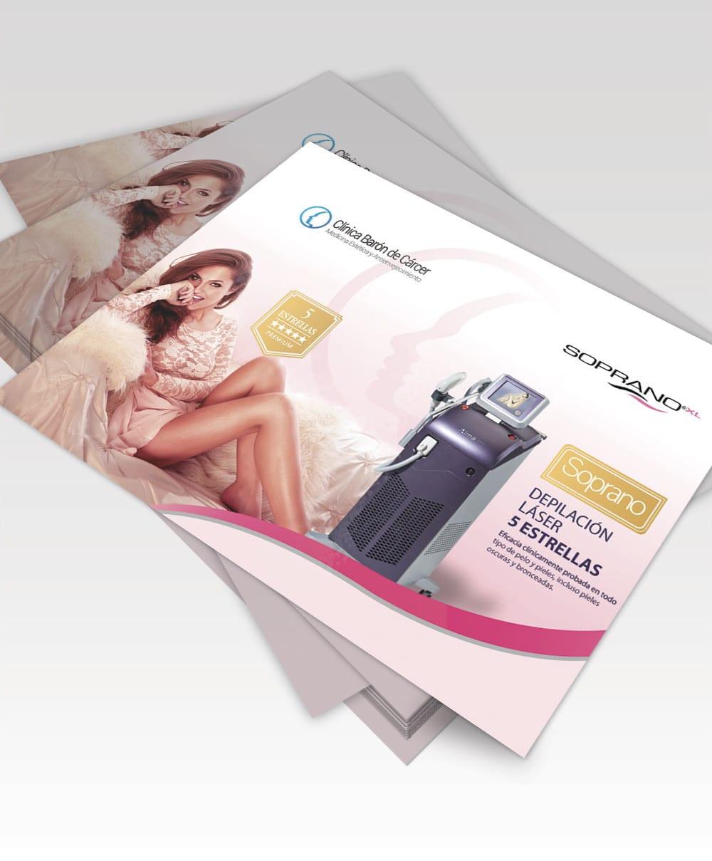 Diseño de folleto para clinica de tratamientos estéticos y anti envejecimiento