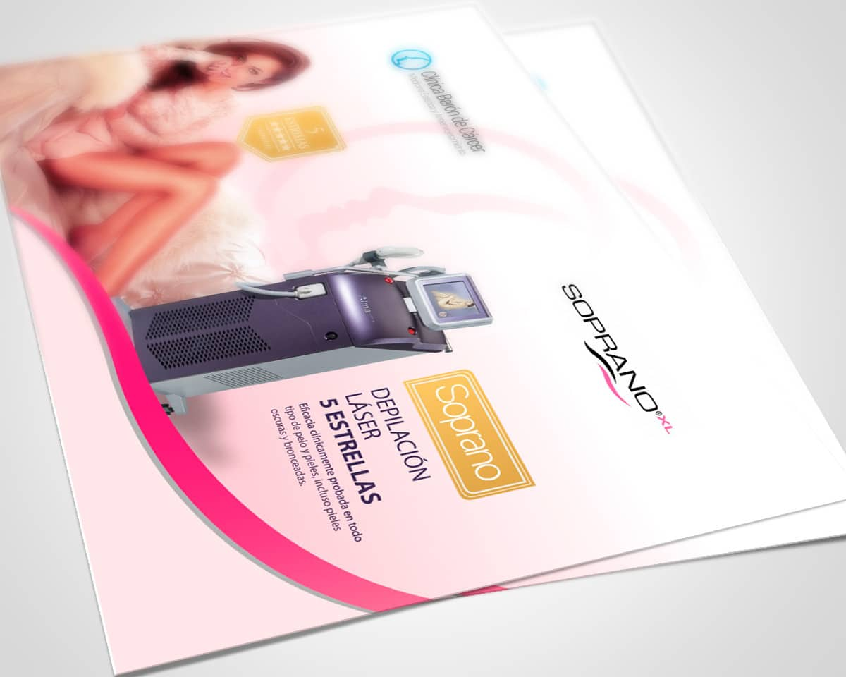 Diseño de folleto para clinica de estética corporal en Valencia