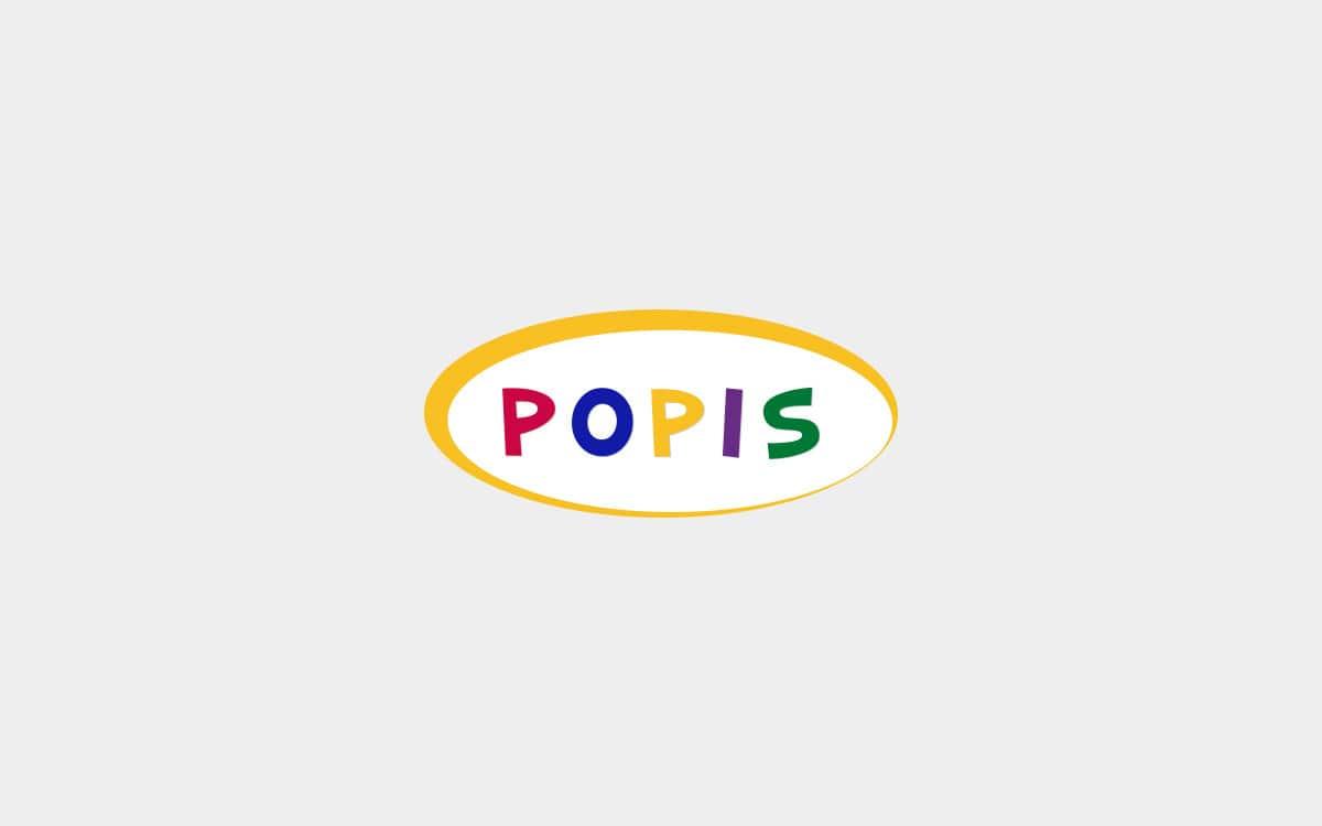 Diseño de logotipo para la tienda de chuches POPIS