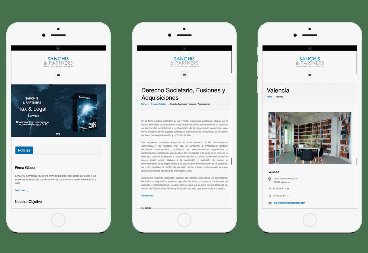 Diseño Web Wordpress para el bufete de abogados S&A en Valencia