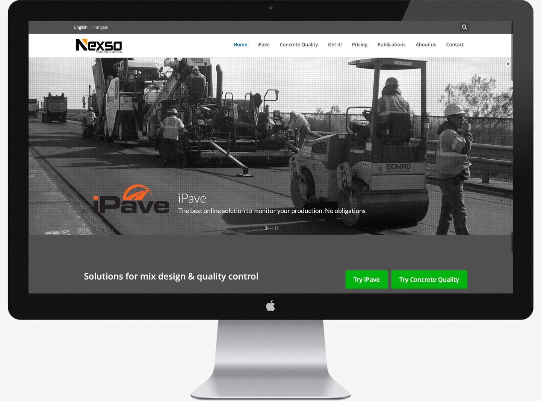 Diseño de pagina Web autogestionable para Nexso