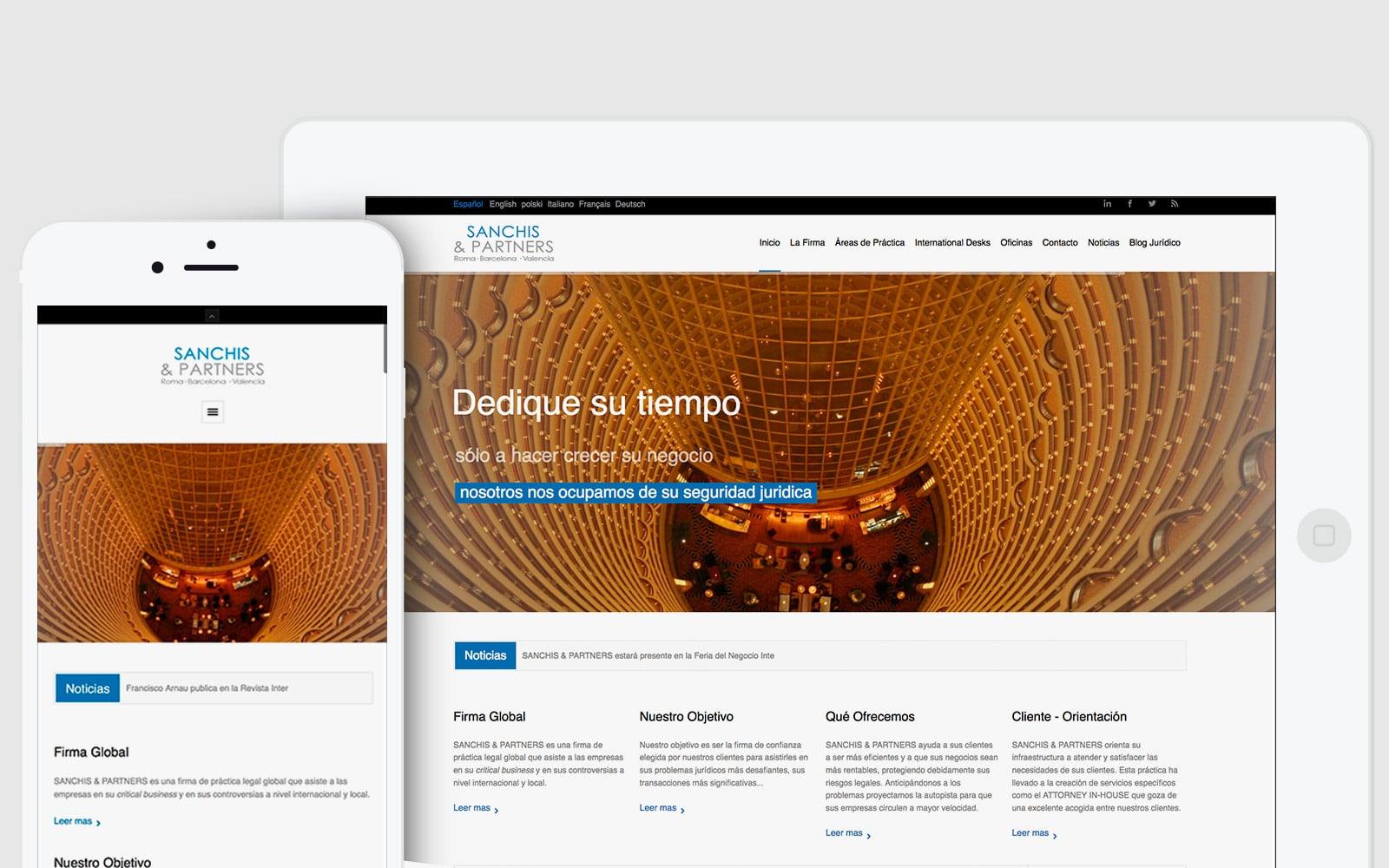 Diseño de pagina Web para el bufete de abogados S&A