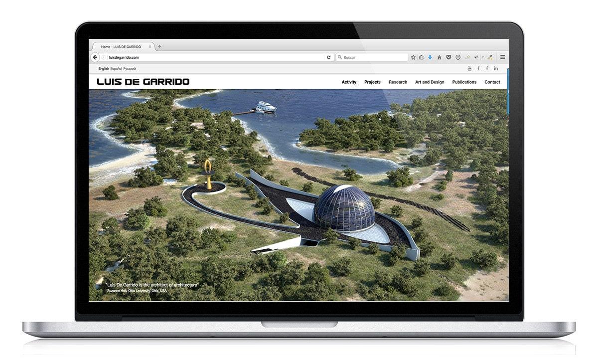 Diseno Web para el Arquitecto Luis de Garrido