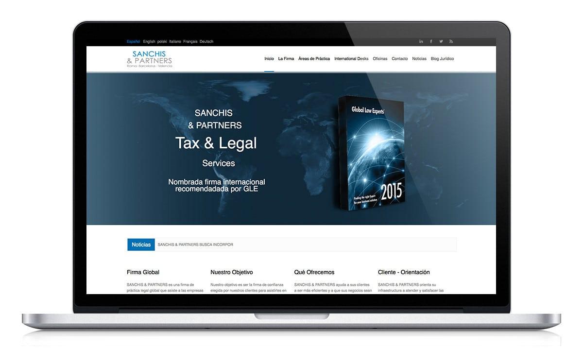 Diseño Web responsive para el bufete de abogados S&A en Valencia