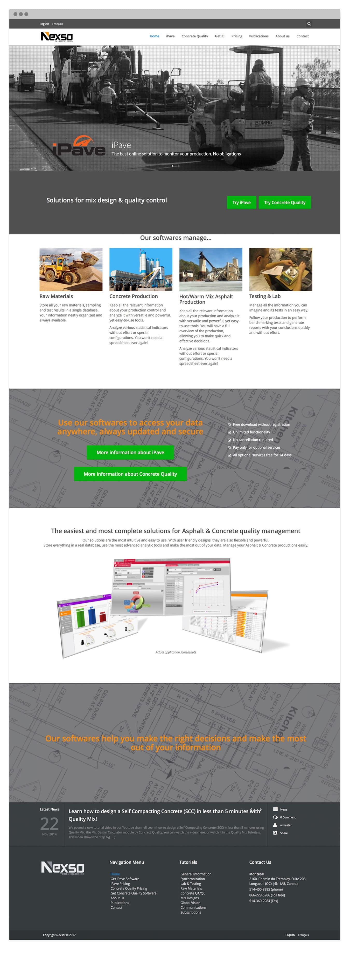 Diseño de pagina Web Wordpress para Nexso