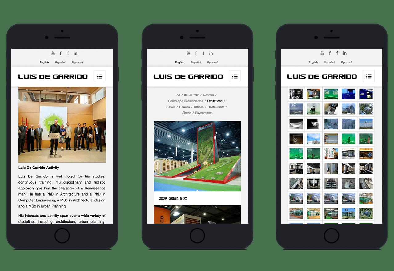 Diseno Web responsive para el estudio de arquitectura de Luis de Garrido