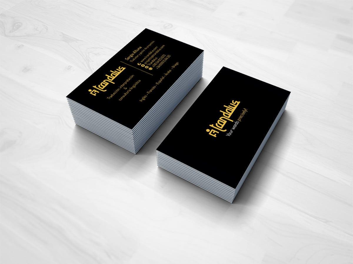 Diseño de tarjetas de visita para un equipo de traductores y intepretes